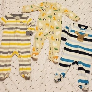 Toddlers footed pajamas bundle! Forest critters ❤